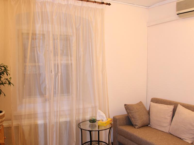 Персиковая комната для индивидуального приема
