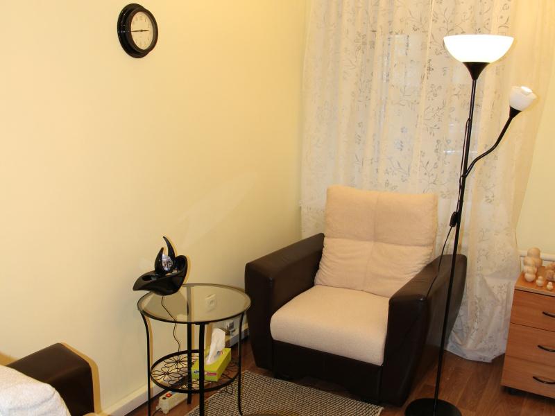 Желтая комната для индивидуального приема